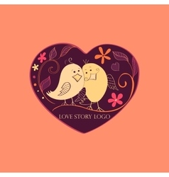 Love story Logo Symbol vector image