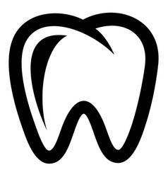 Molar icon simple style vector
