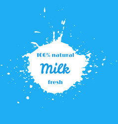 natural fresh milk splash vector image