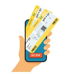 Online booking ticked buy ticket vector