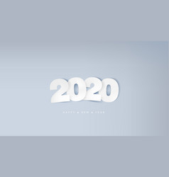 paper 2020 text and happy new year greeting vector image