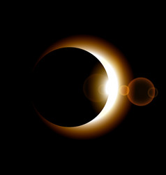 phase of sun eclipse on dark background vector image