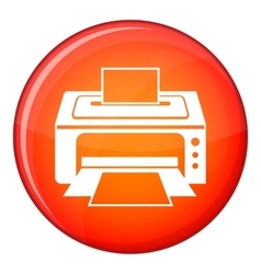 Printer icon flat style vector
