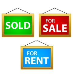 Property Signs vector