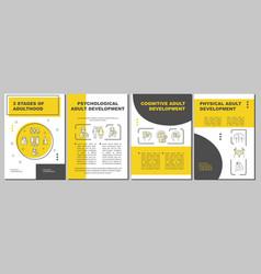 Psychological adult development brochure template vector