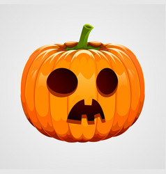 Pumpkin for halloween on white background vector