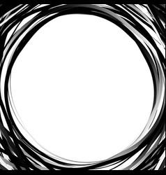 random scribble circles concentric circles in a vector image