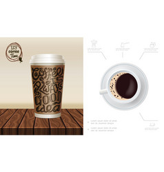 realistic coffee time composition vector image