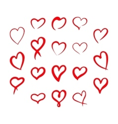 Red hearts set Valentine day love adult xxl vector image