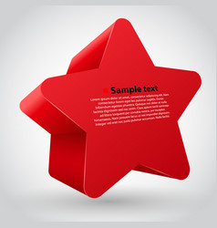 red star with text vector image vector image
