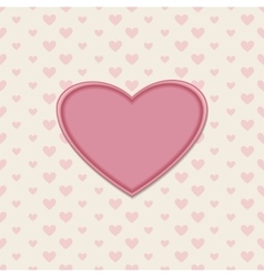 Romantic greeting card with heart vector image vector image