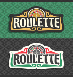 Roulette signboard vector
