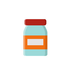 rounded glass bottle and label vector image