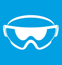 Safety glasses icon white vector