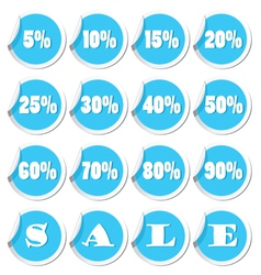 Sale set blue vector
