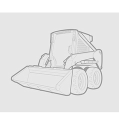 Skid loader vector