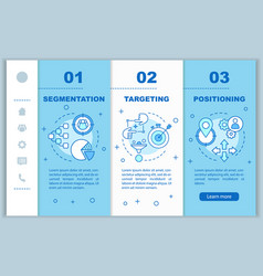 Stp onboarding mobile web pages template market vector