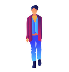Stylish handsome man in fashion clothes vector