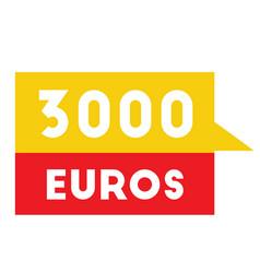 three thousand euros advertising sticker vector image