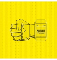 wearable technology design vector image vector image
