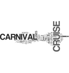 what can a carnival cruise offer the experienced vector image
