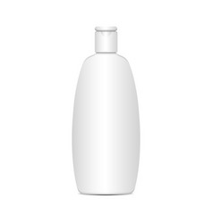 white plastic bottle for shampoo lotion vector image