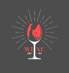 Wine label for design website infographic post vector image