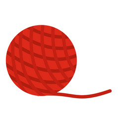 Yarn ball toy for cat icon isolated vector