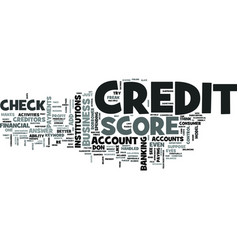 Z check credit score text word cloud concept vector