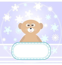 baby bear greetings card vector image
