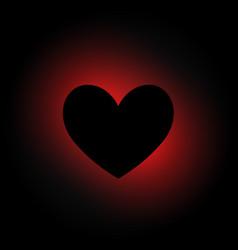 Heart shape in dark background vector