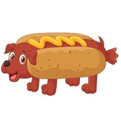 Hot dog cartoon character vector