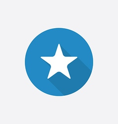 star Flat Blue Simple Icon with long shadow vector image