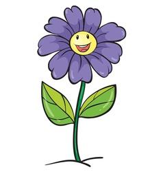 a purple flower vector image