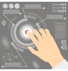 infographics with hand flat style vector image