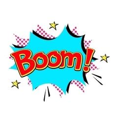 Popart comic speech bubble boom effects vector image