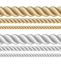 Set of different thickness ropes vector