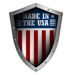 shield with the american flag vector image