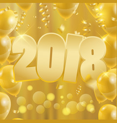 2018 happy new year background party banner with vector image