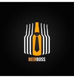 beer bottle boss concept design background vector image vector image