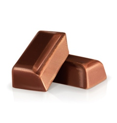 Chocolate pieces vector image