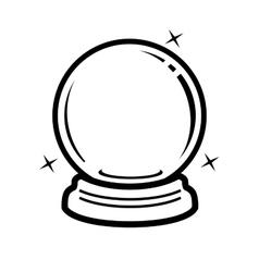 Crystal ball icon vector