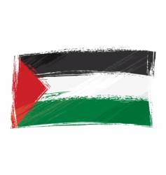 grunge Palestine flag vector image