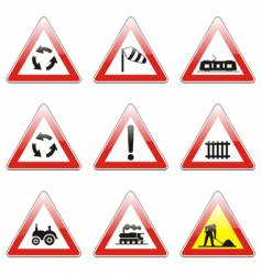 road signs vector image vector image