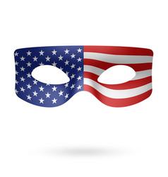 usa flag masquerade mask vector image vector image