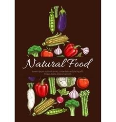 Vegetables vegetarian food symbol vector image vector image