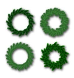Christmas traditional wreaths set vector image