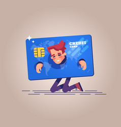 concept of squander and credit slavery vector image