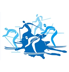 Cross country Skiers vector image