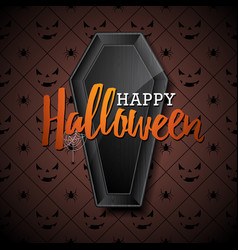 happy halloween with black vector image vector image
